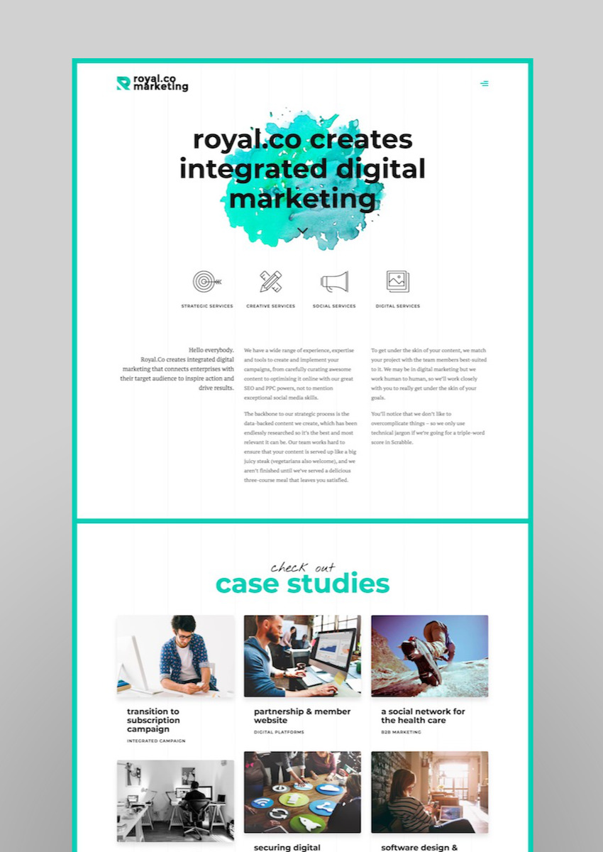 Marketing B2B Marketing Landing SEO WordPress Theme - Royal