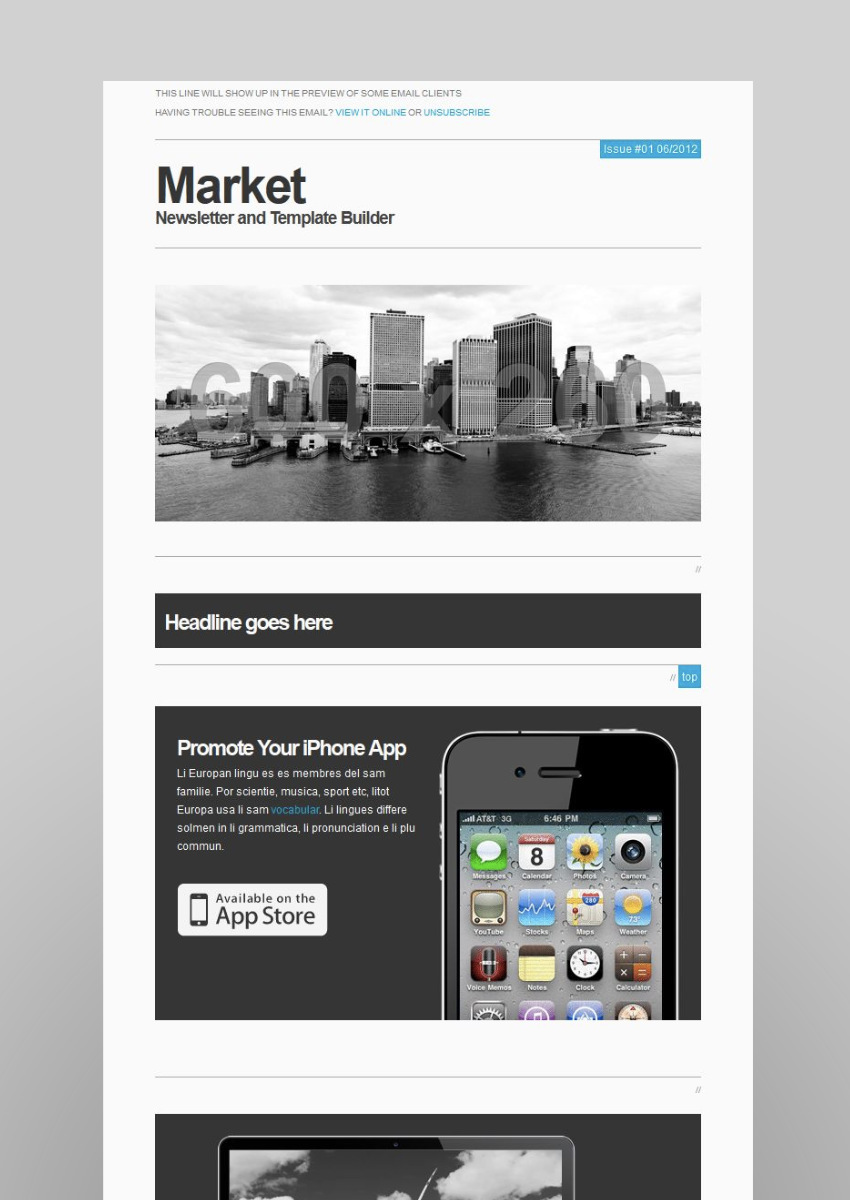 18 great campaign monitor templates for email and newsletters market responsive newsletter with templatebuilder maxwellsz
