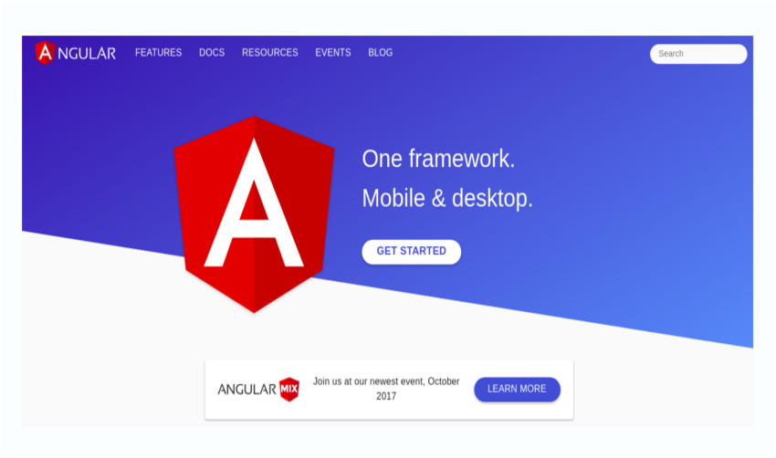 Angular framework for mobile and desktop