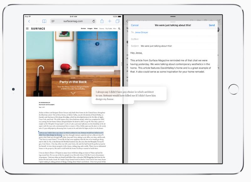 Drag  Drop on the iPad source Apple - Drag  Drop
