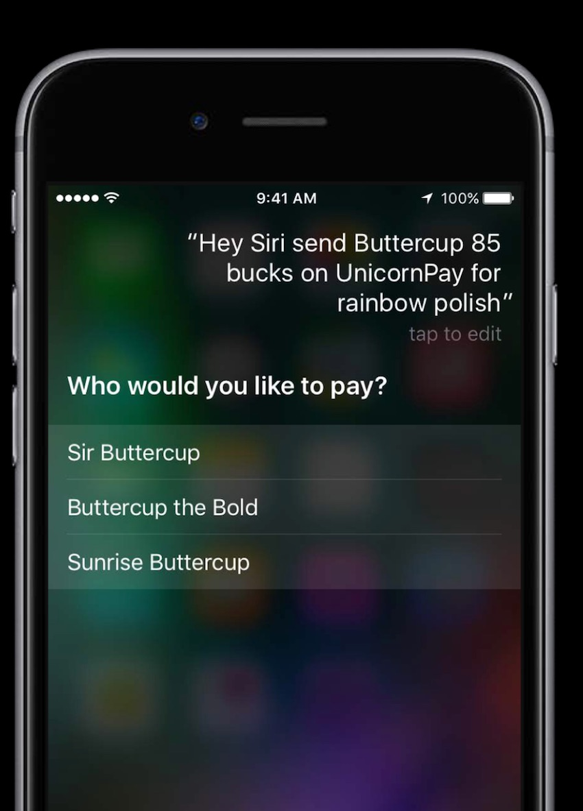 Siri Options in response