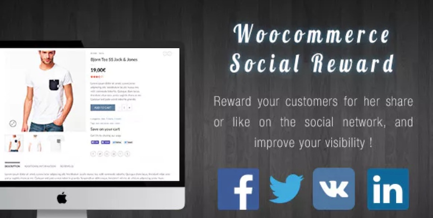 WooCommerce Social Reward and Coupon plugin