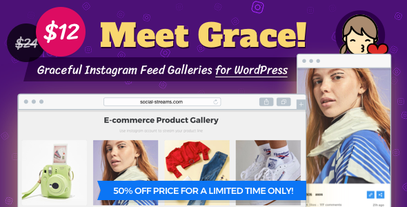 Grace for WordPress Instagram Feed Gallery