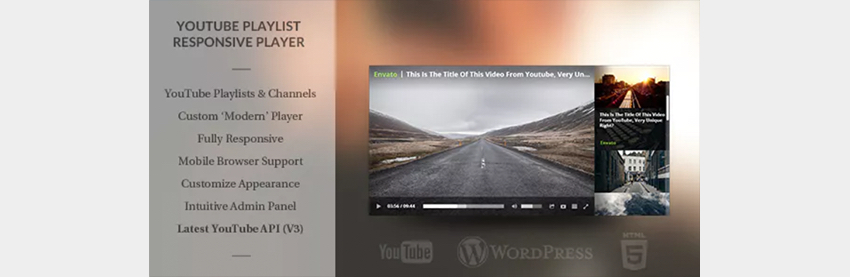 Responsive Youtube Playlist Video Player