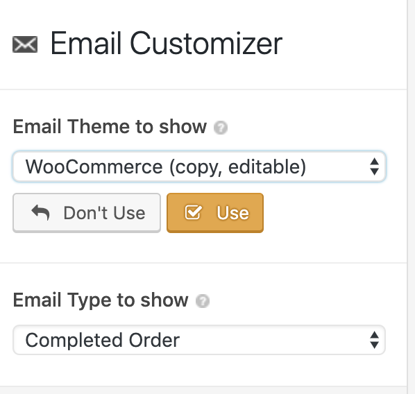 Email Customizer Completed Order Email