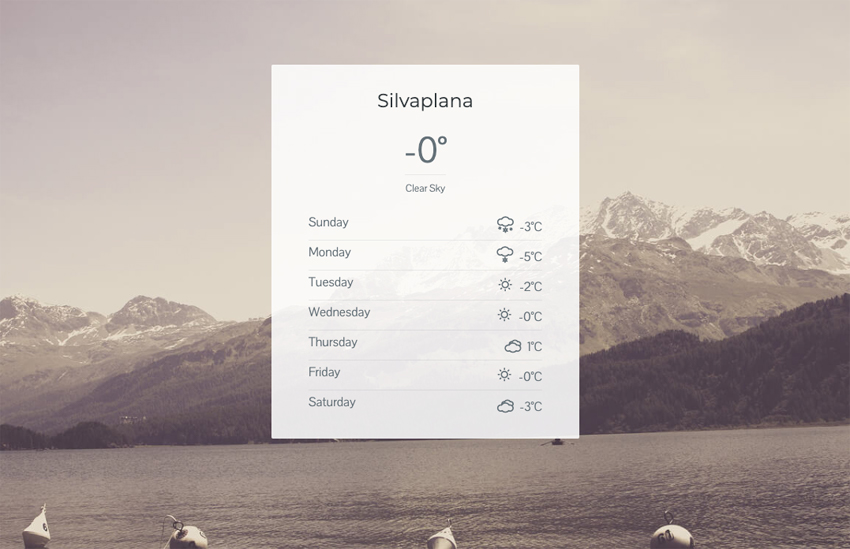 WordPress Plugin Weather Widget for Visual Composer