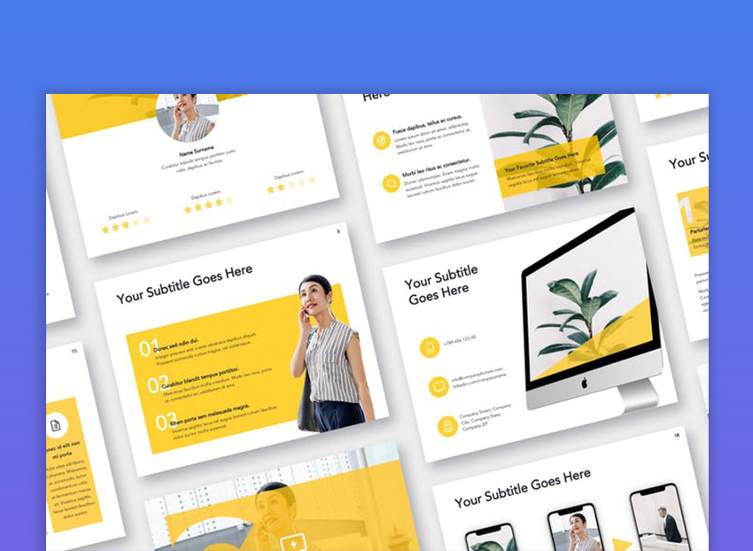 Light  Solid Google Slides Template
