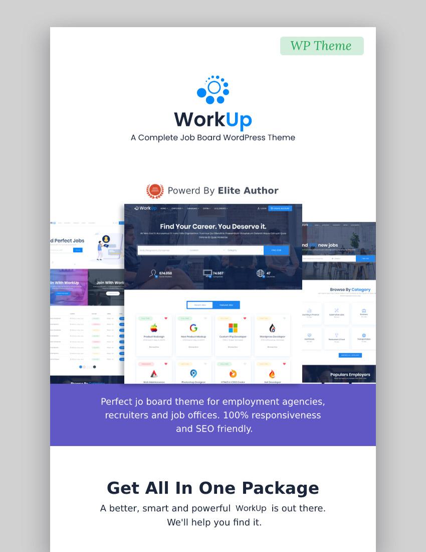 Workup  Job Board WordPress Theme