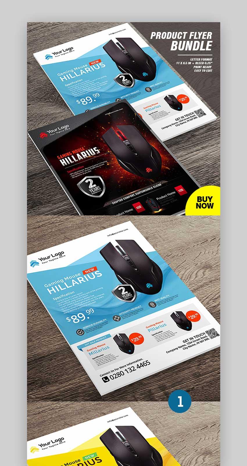 Product Promotion Flyer Template Bundle