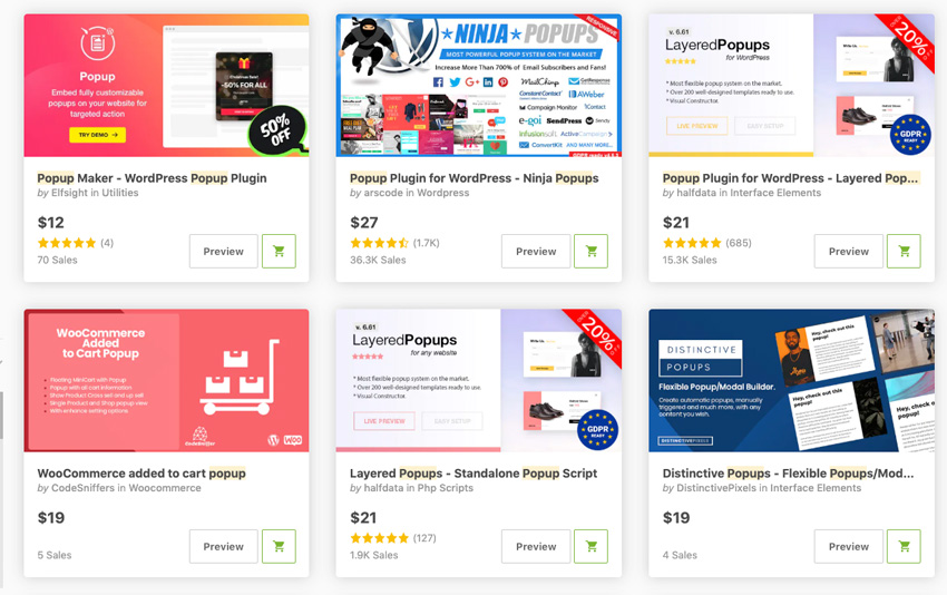 Best-Selling Popup and Opt-In WordPress Plugins On CodeCanyon