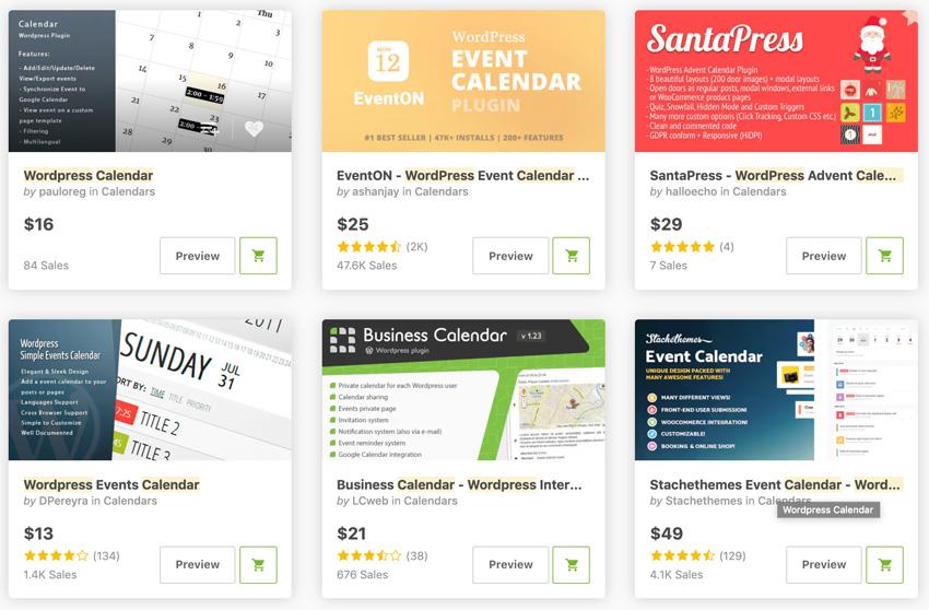 Best-Selling Calendar Plugins and Widgets