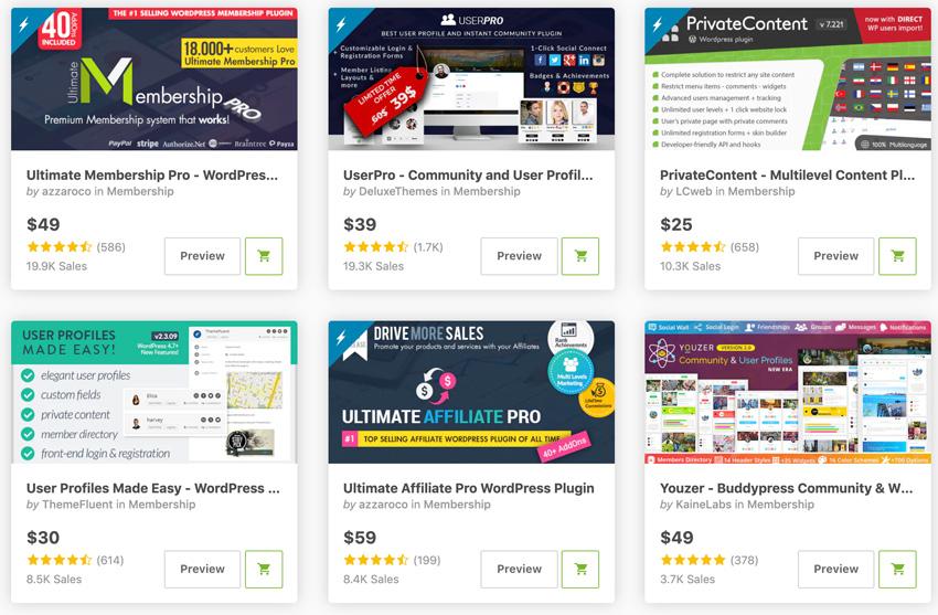 Best-Selling WordPress Membership Plugins