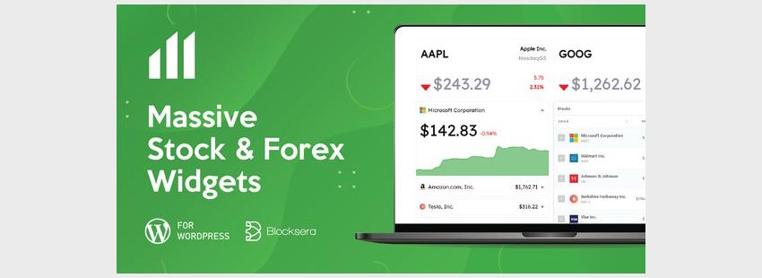 Massive Stock Market  Forex Widgets