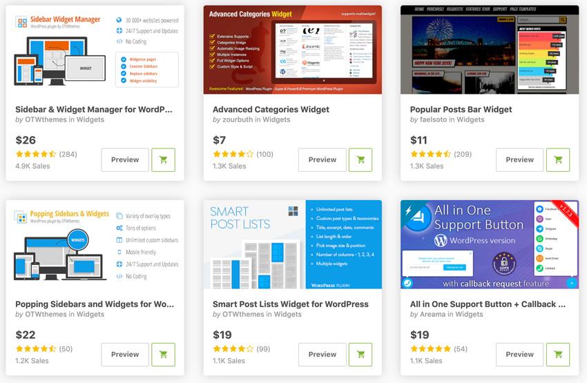 Best-Selling WordPress Widget Plugins