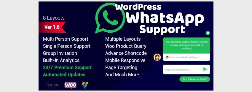 WordPress WhatsApp Support