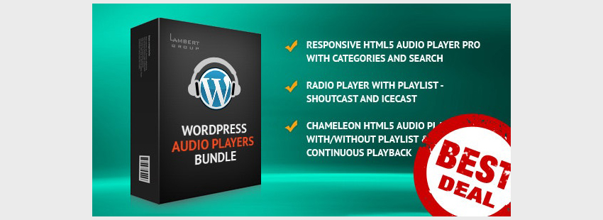 HTML5 Audio Players WordPress Plugins Bundle