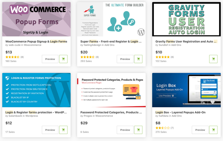 Best-Selling Form Login Plugins On CodeCanyon