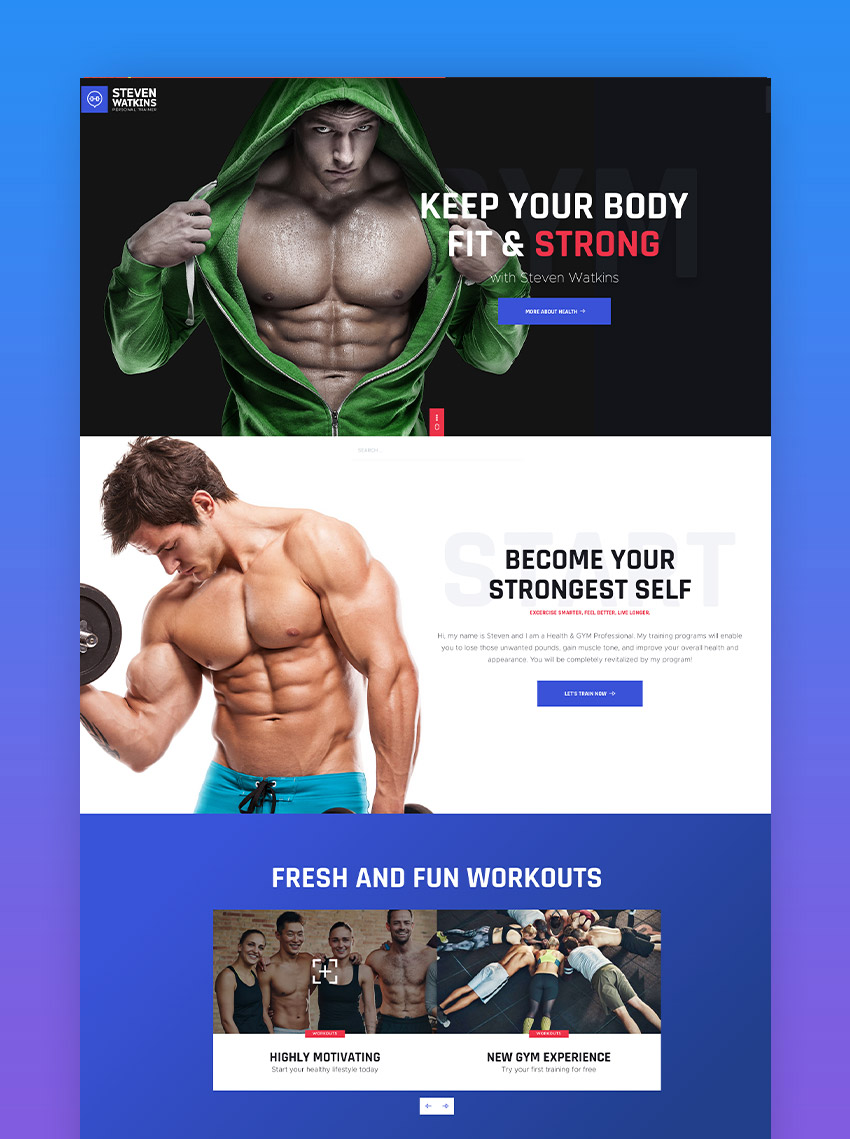 Steven Watkins  Personal Gym Trainer  Nutrition