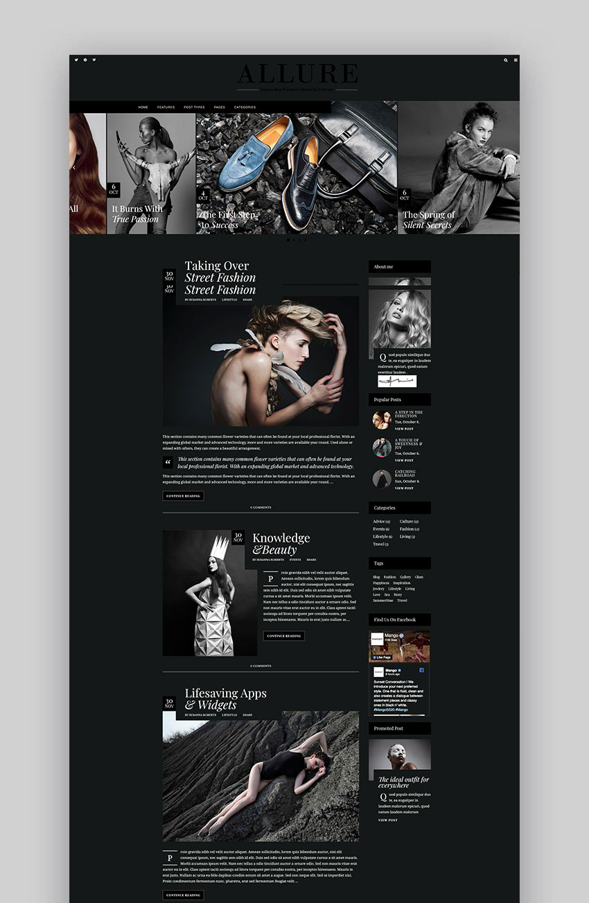 Allure - Beauty  Fashion Blog Theme