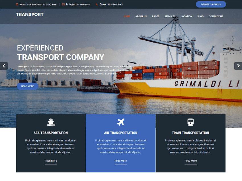 Free WordPress Trucking Theme