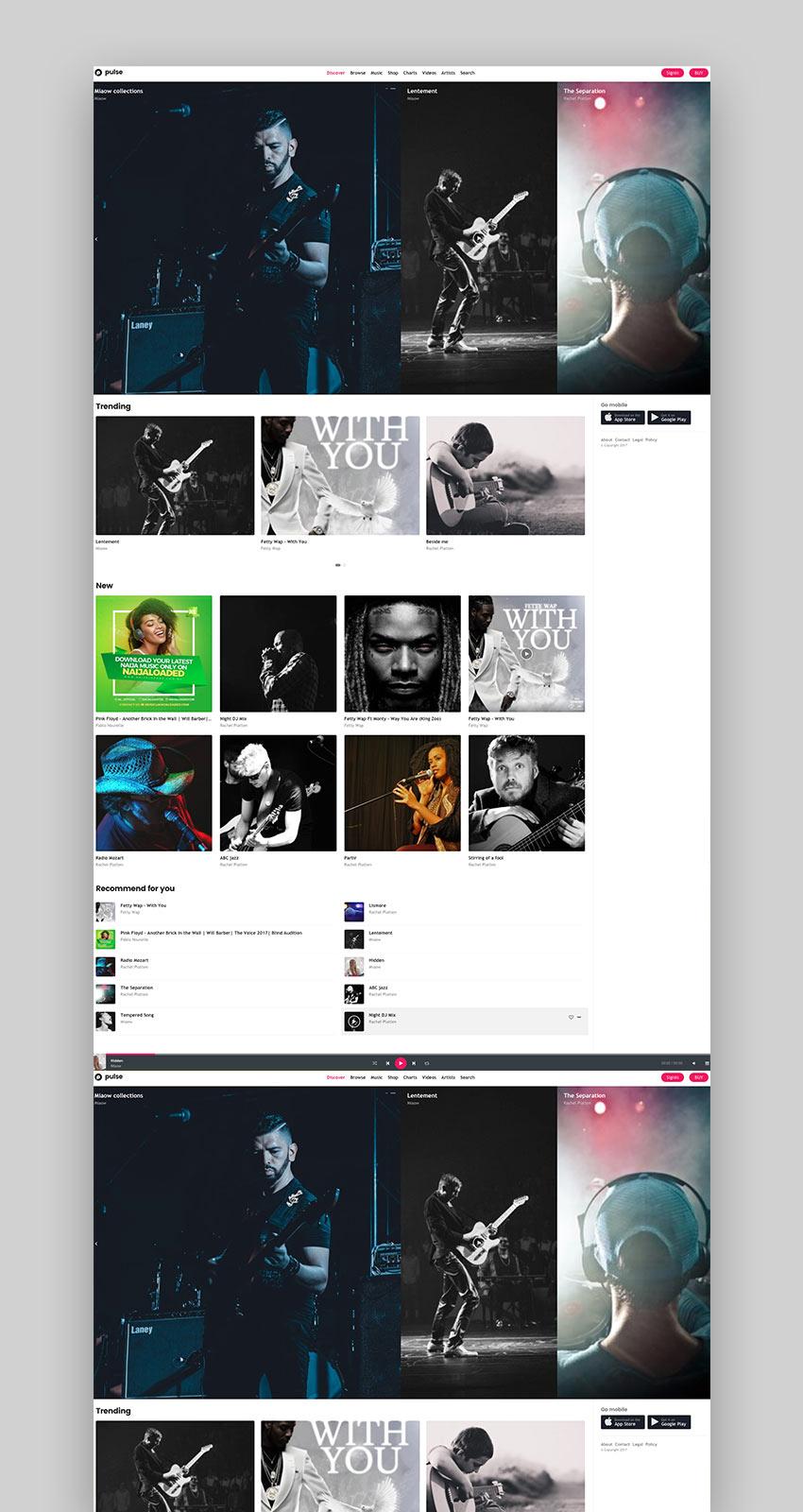 pulse - Music Audio Radio WordPress Theme