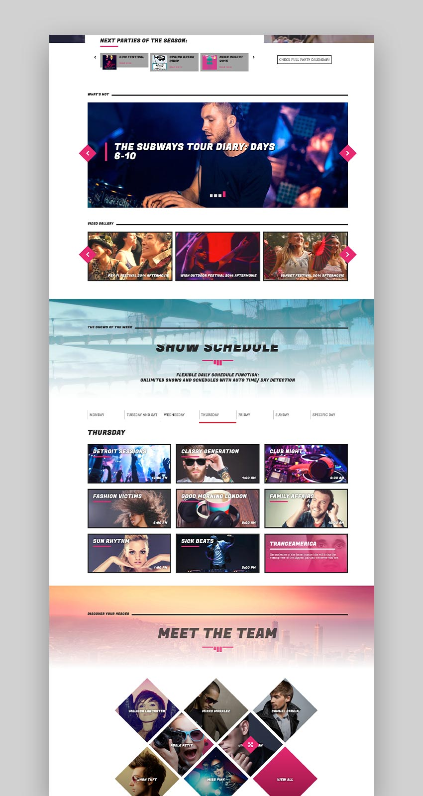 SONIK Responsive Music WordPress Theme for Bands Djs Radio Stations Singers Clubs and Labels