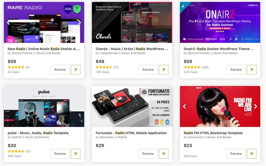 Best Radio Station WordPress Themes on ThemeForest