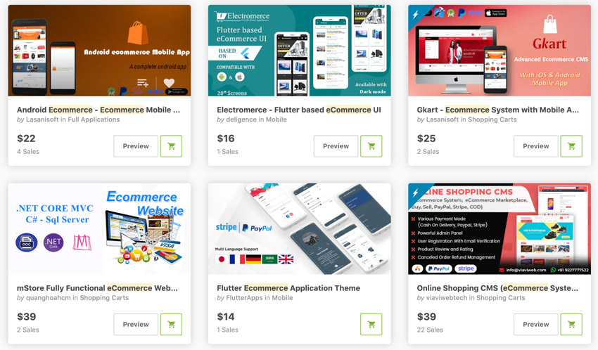 Best-Selling eCommerce Android App Templates