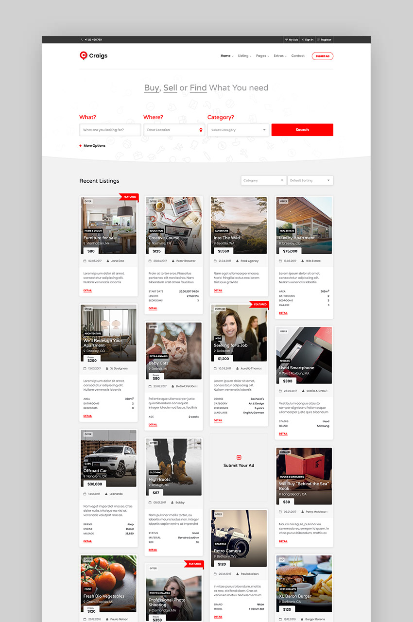 Craigs - Directory Listing Template