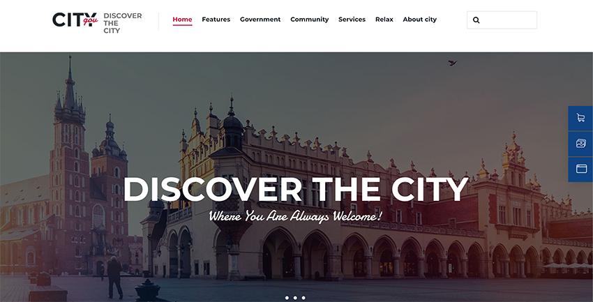 City Government  Municipal Portal Political WordPress Theme