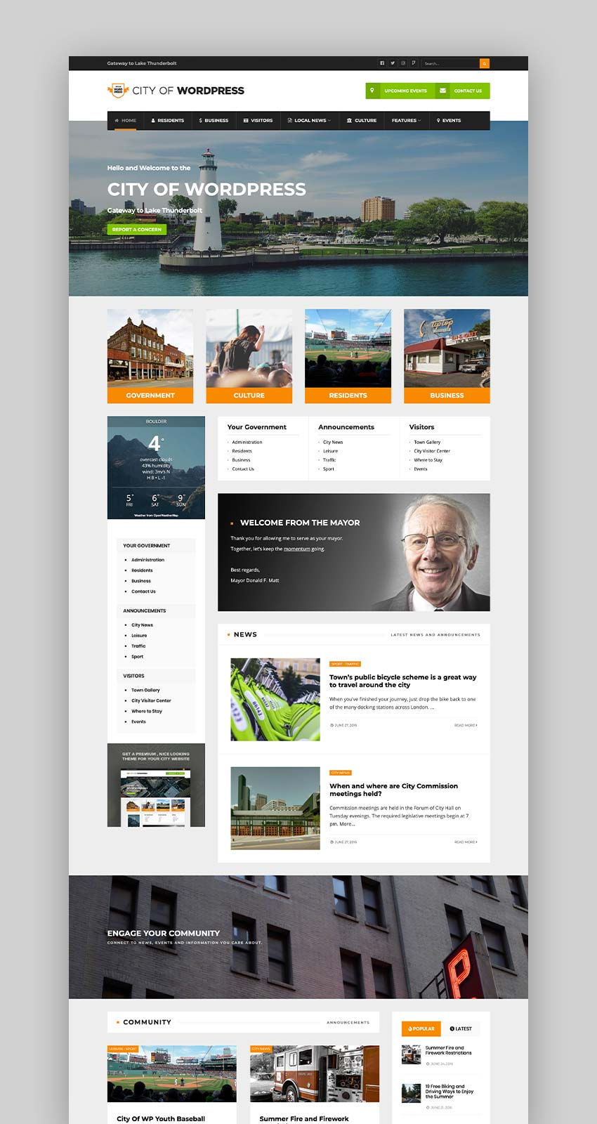 City of WP - Municipal  Local Government Theme