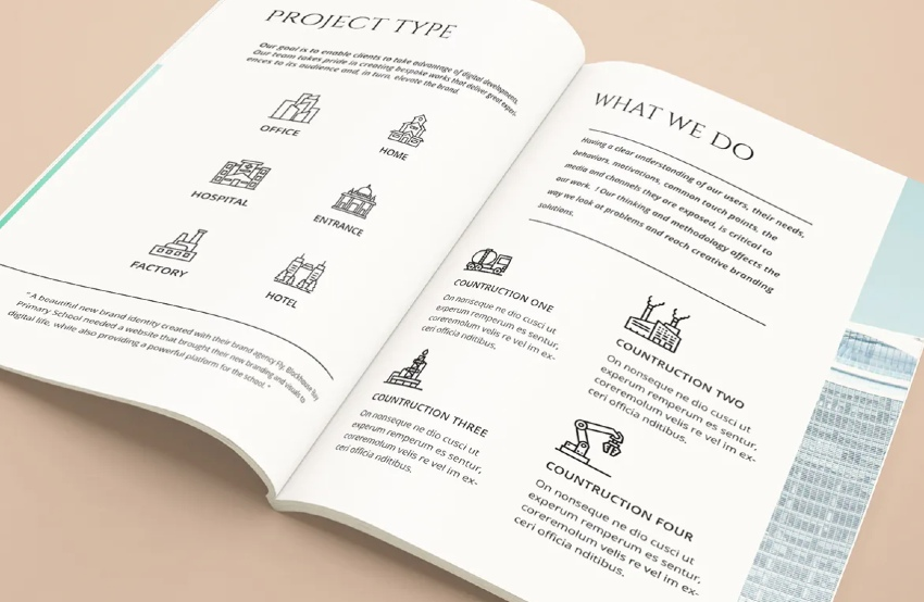 Architecture A5 Proposal Brochure Template