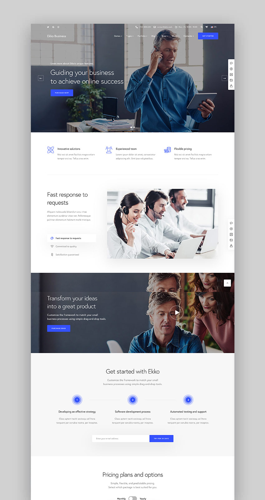 Ekko - Multi-Purpose WordPress Theme with Page Builder