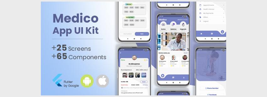 Medico Flutter App UI Kit