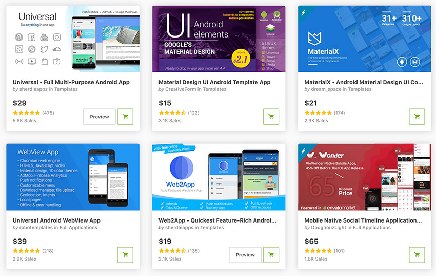 Best-Selling Android App Templates on CodeCanyon