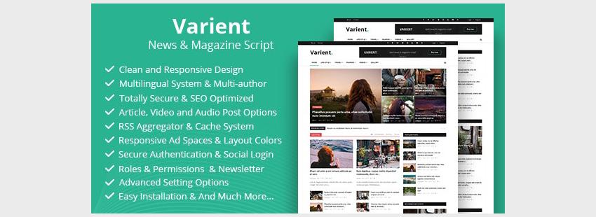 Varient - News  Magazine Script
