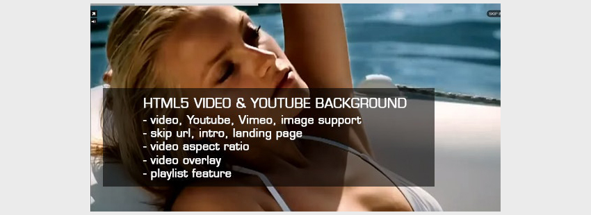 HTML5 Video  Youtube Background