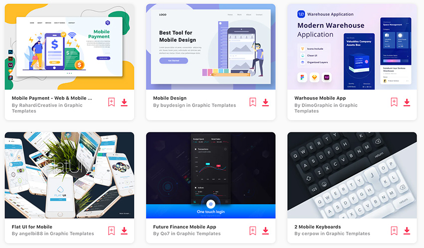 Graphic Templates UI Kits Envato Elements