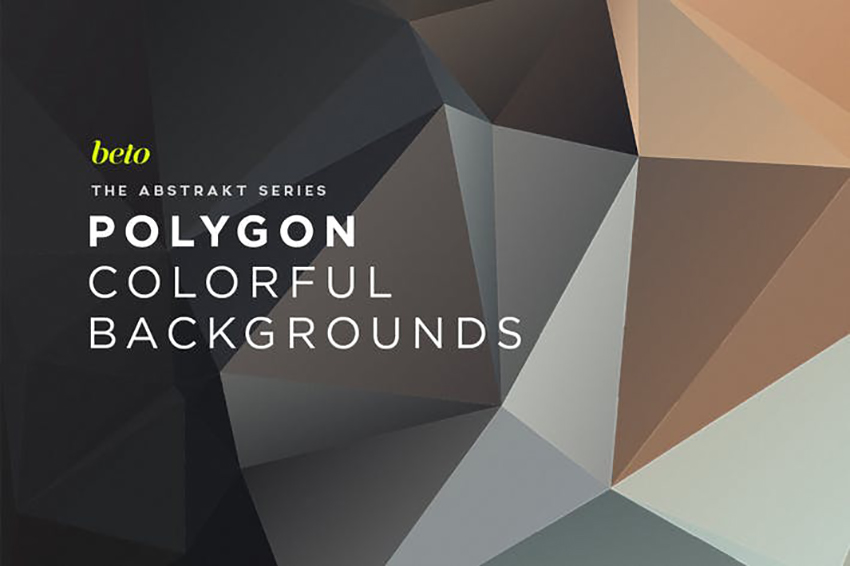 Polygon Abstract Backgrounds V16