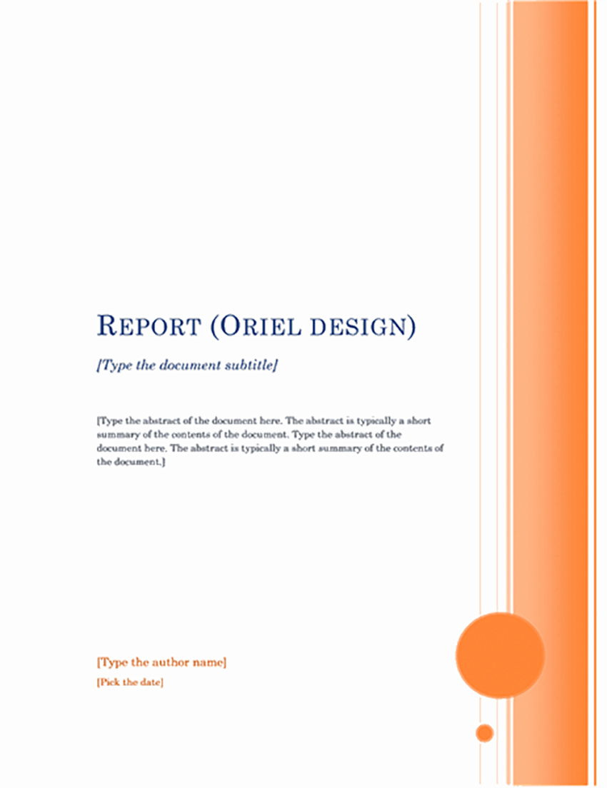 Report (Oriel theme)
