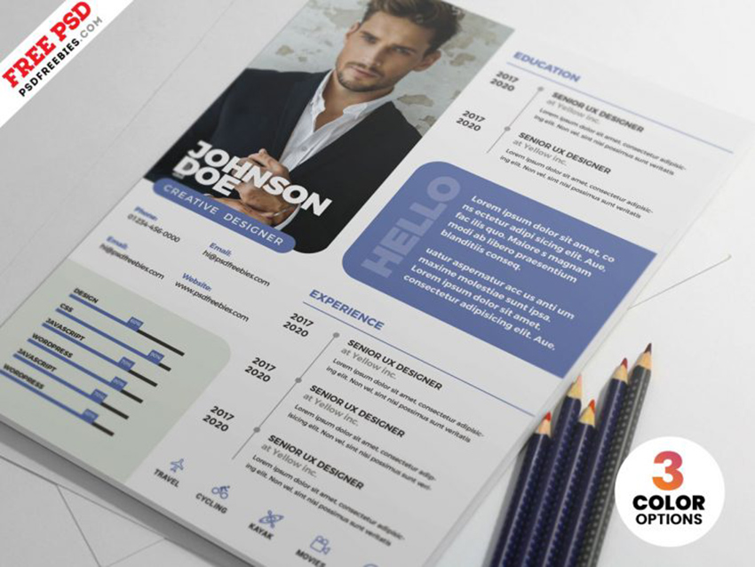 Professional Resume PSD Template