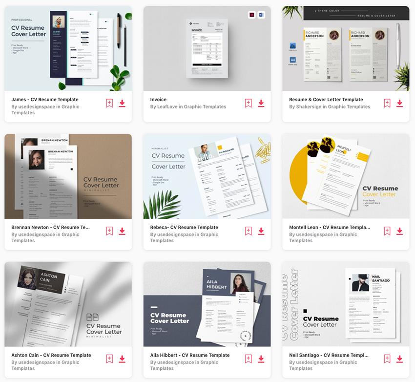 Envato Elements Google Docs Best Sellers