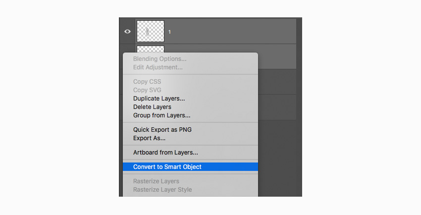 convert to a smart Object two selected layers
