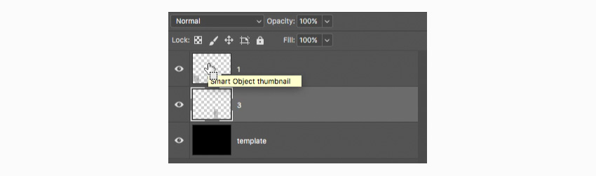 make selection around the smart object