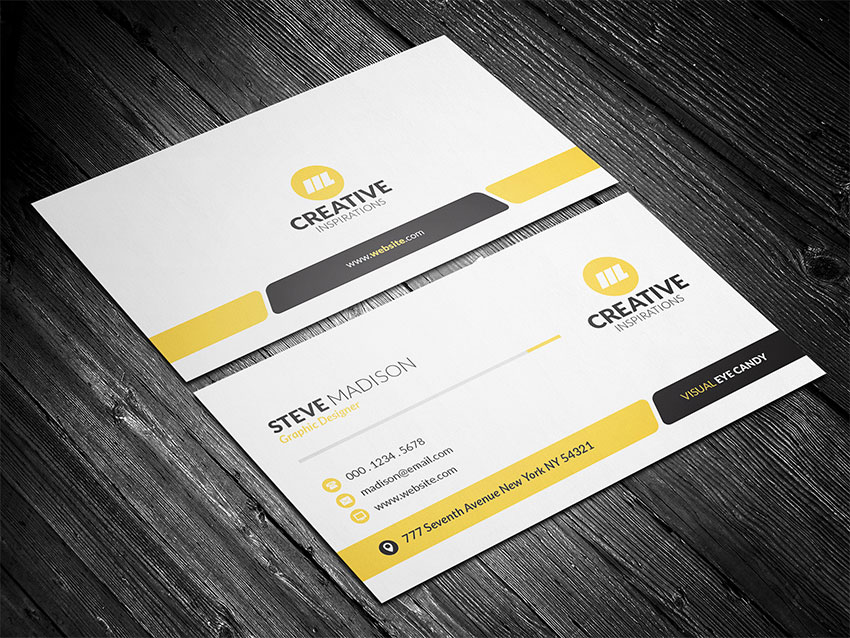 How to create a modern business card using adobe photoshop final product image reheart Images