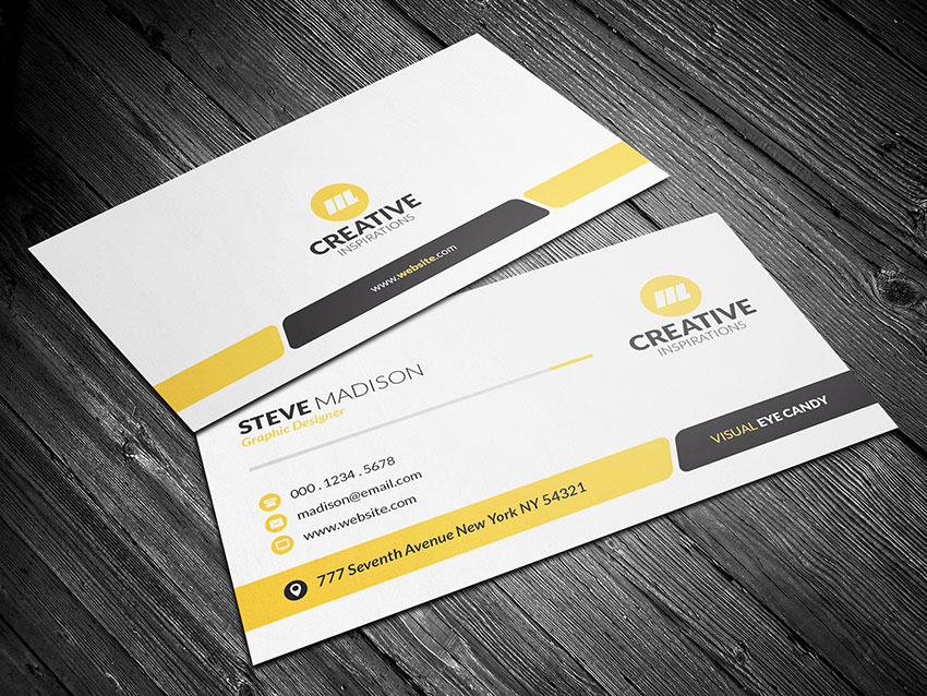 Modern business card completed