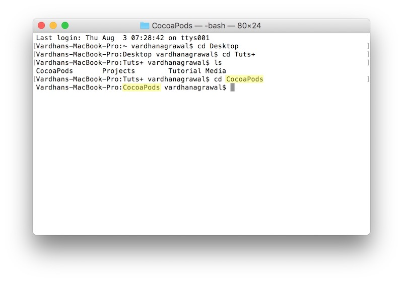 Ready to initialize the Xcode project