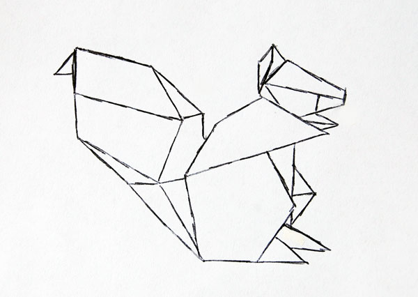 Origami pattern sketch