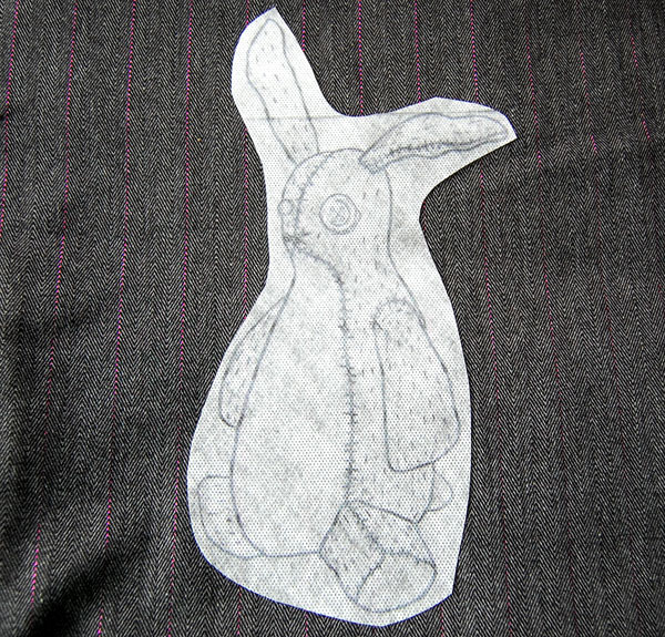 Final rabbit on fabric