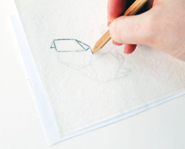 Using a pencil or pen trace your pattern onto the stabilizer